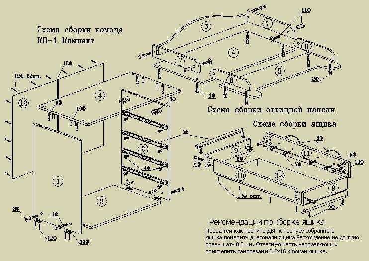 Комод к 5 инструкция по сборке